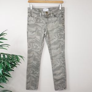 Current/Elliott | Army Camo Stiletto Skinny Jeans